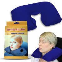 Travel Pillow ( Bantal Leher ) / Bantal Praktis Perjalanan / Bantal Angin Perjalanan (Travel Pillow) / Bantal udara Praktis