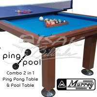 Murrey Ping Pool - Combo 2-in-1 - Table Tennis Meja Billiard Biliar