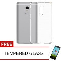 Case for Xiaomi Redmi Note 4 - Clear + Gratis Tempered Glass - Ultra Thin Soft Case