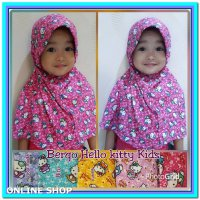 (Hijab Instan) Bergo Hello Kitty Kids