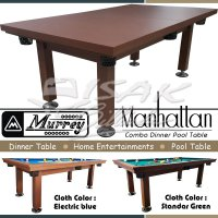 Murrey Dinner Pool Table 7 ft Manhattan - Meja Makan Billiard Biliar