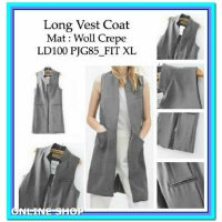 (Coat) Long Vest Coat Gray