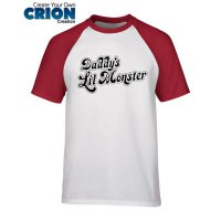 Kaos Raglan Suicide Squad - Daddy's Lil Monster - By Crion