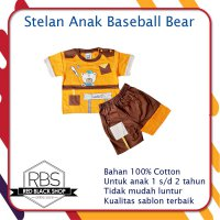 Phoebe Baby Stelan Kaos Anak Baseball Bear - Orange
