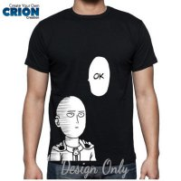 Kaos Anime One Punch Man - Saitama Not Interested Ok by Crion