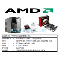 PAKET CPU / PC RAKITAN GAMING 21 /AMD A4-6300(3.7 GHZ)/