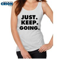 Kaos Oblong - Tanktop Fitness - ' ust Keep Going ' by Crion
