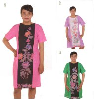 Dress Batik Tulis Kombinasi Embos Acid