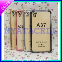 Soft Case Anti Crack List Chrome Oppo Neo 9 A37 Hard Casing Cover