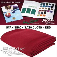 Simonis 760 Red - Belgia Kain Laken Meja 9 ft Biliar Billiard Pool