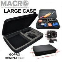 LARGE SHOCKPROOF PADDED CASE FOR GOPRO / ACTION CAMERA