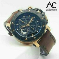 Jam Tangan Alexandre Christie Ac-9205 Black Rose Gold Original Limited Edition
