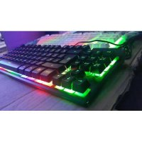 Keyboard Vegasus K10 Mini Rainbow Backlight Gaming Semi Mechanical
