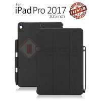 Ipad Pro 10.5 Inch 2017 - Stitches Leather Case with Pencil Holder