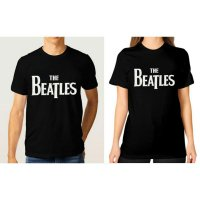 Tumblr Tee / T-Shirt / Kaos Couple The Beatles Warna Hitam