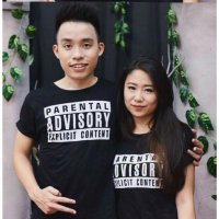 Tumblr Tee / T-Shirt / Kaos Couple Parental Warna Hitam