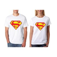 Tumblr Tee / T-Shirt / Kaos Couple Superman Warna Putih