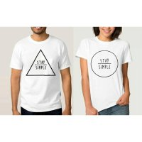Tumblr Tee / T-Shirt / Kaos Couple Stay Simple Warna Putih