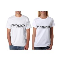 Tumblr Tee / T-Shirt / Kaos Couple Psychopath Warna Putih