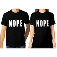 Tumblr Tee / T-Shirt / Kaos Couple NOPE Warna Hitam