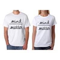 Tumblr Tee / T-Shirt / Kaos Couple Mind Matter Warna Putih