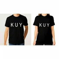 Tumblr Tee / T-Shirt / Kaos Couple KUY Warna Hitam
