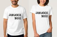 Tumblr Tee / T-Shirt / Kaos Couple Jangkrik Boss Warna Putih