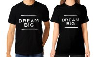 Tumblr Tee / T-Shirt / Kaos Couple Dream Big Warna Hitam