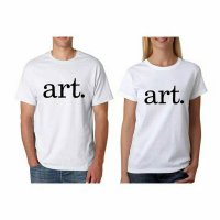 Tumblr Tee / T-Shirt / Kaos Couple Art Warna Putih