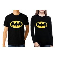 TUMBLR TEE / T-SHIRT / KAOS COUPLE (WANITA LENGAN PANJANG) BATMAN WARNA HITAM