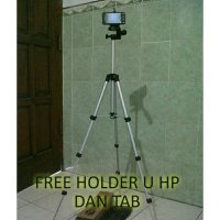 Tripod buat hp, kamera pocket dan dslr free holder medium.