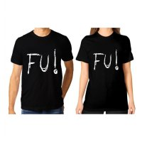 Tumblr Tee / T-Shirt / Kaos Couple FU Warna Hitam