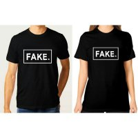 Tumblr Tee / T-Shirt / Kaos Couple Fake Warna Hitam