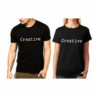 Tumblr Tee / T-Shirt / Kaos Couple Creative Warna Hitam