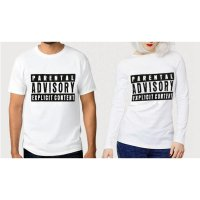 TUMBLR TEE / T-SHIRT / KAOS COUPLE (WANITA LENGAN PANJANG) PARENTAL WARNA PUTIH