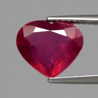 [RH106] Heart 3.62ct 10x9x4.6mm Natural Rich Red Ruby, Mozambique