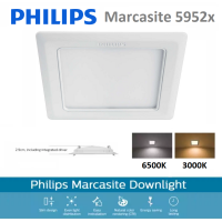 PHILIPS LED Downlight 59526 6500K Marcasite 100 Square 9W WH Recessed LED