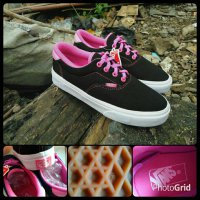 sepatu vans era black pink for woman