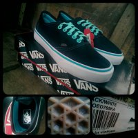 sepatu vans authentic black tosca woman