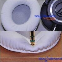 [globalbuy] Thicker Comfy Ear Pad Cushion For Audio Technica ATH M50x M50 WH M50WH White H/4980256