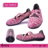 SEPATU KOREA CASUAL FLAT SHOES IMPORT 002 PURPLE