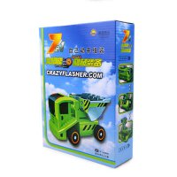 Mainan Anak 7 in 1 Solar Transformer Car Truck Power Racing Robot Cars