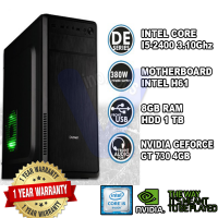 PC Gaming Rakitan Core I5 2400 8GB 1TB With Nvdia GT 73