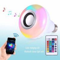 [globalbuy] Smart Bulb Colorful Light Wireless Bluetooth Remote Control Audio Stereo Speak/4034355