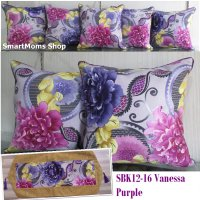 SARUNG BANTAL SOFA MINIMALIS / SARUNG BANTAL KURSI SET VANESSA PURPLE