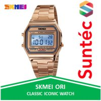 SKMEI Casual Men Stainless Strap Watch - Jam Tangan Pria 1123 by Suntec-Watch
