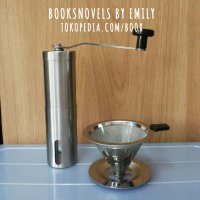 PAKET Stainless Manual Hand Coffee Grinder + V60 Drippe