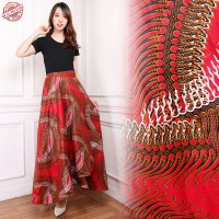 Cj collection Rok lilit batik maxi payung panjang wanita jumbo long skirt Sarita