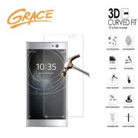 Grace Sony Xperia XA2 - 5.2 inch Tempered Glass - 3D Curved Full Cover - Clear