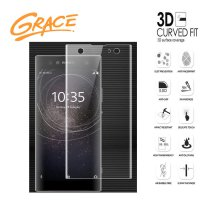 Grace Sony Xperia XA2 Ultra - 6.0 inch Tempered Glass - 3D Curved Full Cover - Clear
